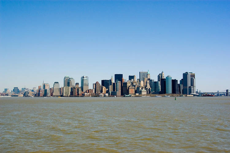 New York City, New York: Skyline of New York lower manhattan post 9-11.  .Photo #: ny217-14638  .Photo copyright Lee Foster, www.fostertravel.com, lee@fostertravel.com, 510-549-2202.