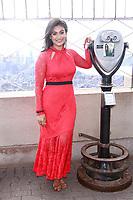 NEW YORK, NY - NOVEMBER 7:  Nina Davuluri  lights the Empire State Building in celebration of  Diwali on November 7, 2018 in New York City.               <br /> CAP/MPI99<br /> &copy;MPI99/Capital Pictures