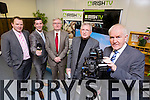 Minister Jimmy Deenihan  officially launched the Munster Regional Office of Irish TV at the HCT Building IT Tralee North Campus on Monday. Pictured l-r Pierse O'Reilly (CEO Irish TV), Brian Hurley (Munster Regional Manager), Oliver Murphy, President IT Tralee, John Griffin (Chairman Irish TV), Minister Jimmy Deenihan
