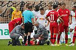 05.10.2019, BayArena, Leverkusen, GER, 1. FBL, Bayer 04 Leverkusen vs. RB Leipzig,<br />  <br /> DFL regulations prohibit any use of photographs as image sequences and/or quasi-video<br /> <br /> im Bild / picture shows: <br /> Charles Aránguiz (Leverkusen #20), verletzt sich heftig muss behandelt werden <br /> <br /> Foto © nordphoto / Meuter