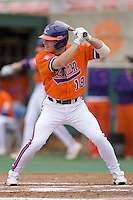 Addison Johnson #18 of the Clemson Tigers at bat versus the Wake Forest Demon Deacons at Doug Kingsmore stadium March 13, 2009 in Clemson, SC. (Photo by Brian Westerholt / Four Seam Images)