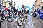 Mark Cavendish (GBR) Team Dimension Data starts Stage 1 of the 2019 Tour de Yorkshire, running 178.5km from Doncaster to Selby, Yorkshire, England. 2nd May 2019.<br /> Picture: ASO/SWPix | Cyclefile<br /> <br /> All photos usage must carry mandatory copyright credit (&copy; Cyclefile | ASO/SWPix)