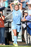 19 October 2014: North Carolina's Megan Buckingham. The Duke University Blue Devils hosted the University of North Carolina Tar Heels at Koskinen Stadium in Durham, North Carolina in a 2014 NCAA Division I Women's Soccer match. North Carolina won the game 3-0.