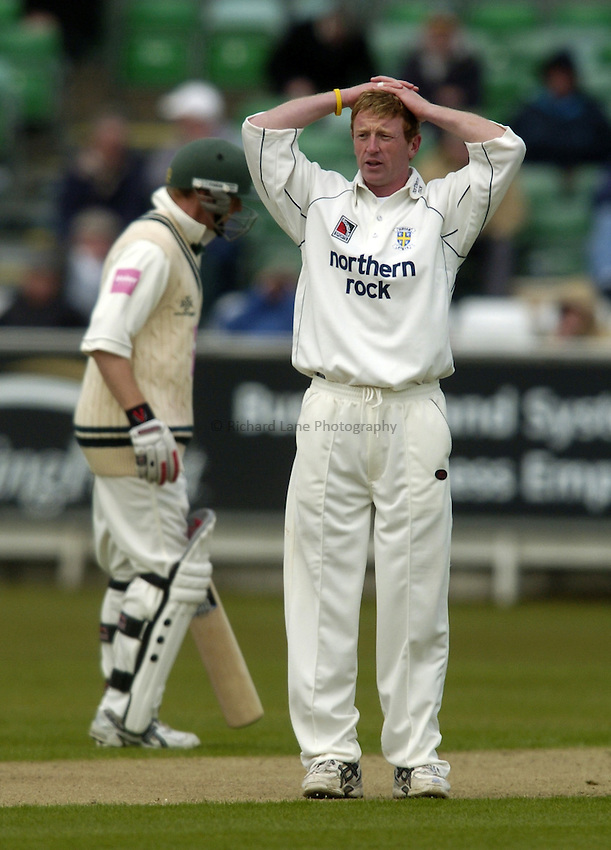 Photo. Jed Wee..Durham v Worcestershire, Frizzell County Championship Division Two, 20/04/2005..Durham's Paul Collingwood.
