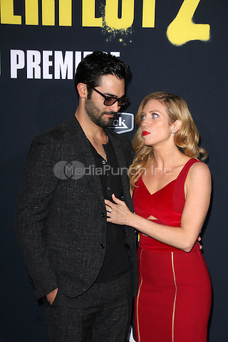 LOS ANGELES, CA - MAY 8: Tyler Hoechlin, Brittany Snow at the Pitch Perfect 2 Los Angeles Premiere At Nokia Theatre L.A. Live in Los Angeles, California on May 08, 2015. Credit: David Edwards/MediaPunch