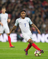 Raheem Sterling (Man City) of England during the International Friendly match between England and Spain at Wembley Stadium, London, England on 15 November 2016. Photo by Andy Rowland.