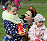 REPRO FREE: EASTER SUNDAY EGG HINT TRALEE:.Amy and Taylor Kate Stack-Leane pictured with Snow White at the Cadbury Easter Egg Hunt in the Ballygarry House Hotel & Spa in Tralee on Easter Sunday..Picture by Don MacMonagle