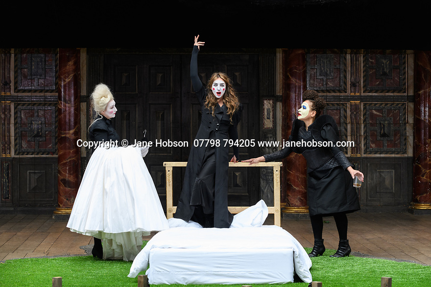 "Shakespeare's Globe presents ROMEO AND JULIET, by WIlliam Shakespeare, directed by Daniel Kramer, as part of Emma Rice's ""Summer of Love"" season. Picture shows: Blythe Duff (Nurse), Kirsty Bushell (Juliet), Martina Laird (Lady Capulet)"