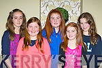 Andrea O'Donoghue, Lauren Fitzgerald, Leah Moynihan, Rachel Moynihan and Laoise Geaney Killarney who danced at the Killarney School of Music annual concert in the Malton Hotel on Saturday night..