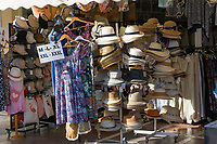 Garments and headgear for an expanding population. Taken seafront Marbella, Malaga Province, Spain, 1 December 2018. 201812018143<br />