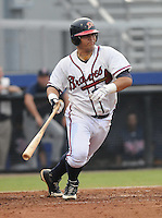 July 15, 2009: Catcher Osman Marval (22) of the Danville Braves, rookie Appalachian League affiliate of the Atlanta Braves, in a game at Dan Daniel Memorial Park in Danville, Va. Photo by:  Tom Priddy/Four Seam Images