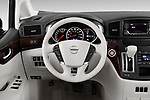 Car pictures of steering wheel view of a 2017 Nissan Quest SV 5 Door Minivan Steering Wheel