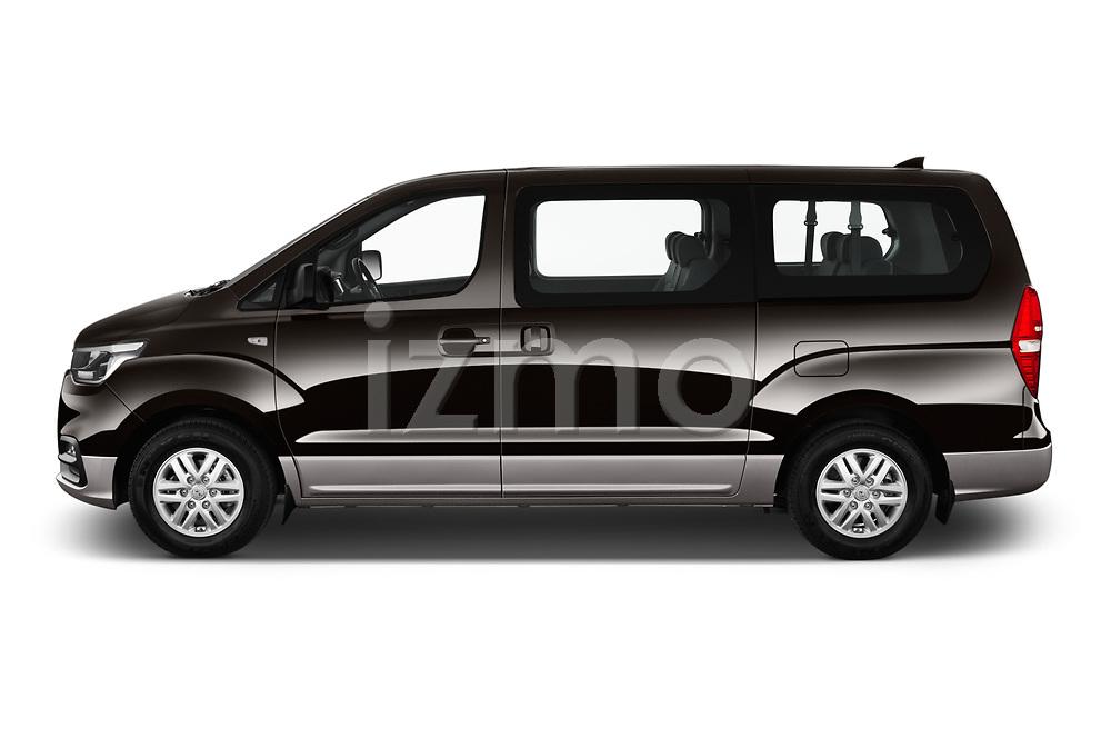 Car driver side profile view of a 2019 Hyundai H1-People Executive 5 Door Mini Van