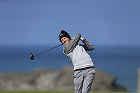 Ronan Mullarney (MU) during the final of the Irish Students Amateur Open Championship, Tralee Golf Club, Tralee, Co Kerry, Ireland. 12/04/2018.<br /> Picture: Golffile | Fran Caffrey<br /> <br /> <br /> All photo usage must carry mandatory copyright credit (&copy; Golffile | Fran Caffrey)