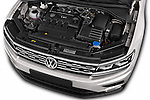 Car Stock 2017 Volkswagen Tiguan Comfortline 5 Door Suv Engine  high angle detail view