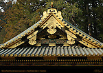 Kitouden Prayer Hall Roof Detail  Kamishamusho Nikko Toshogu Shrine Nikko Japan