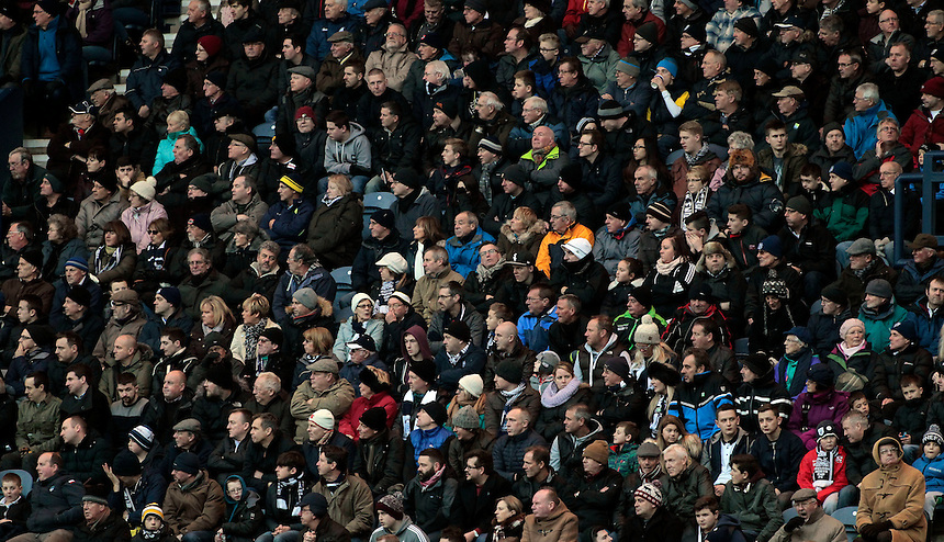 Preston North End fans during the game<br /> <br /> Photographer David Shipman/CameraSport<br /> <br /> Football - The Football League Sky Bet Championship - Preston North End v Blackburn Rovers - Saturday 21st November 2015 - Deepdale - Preston <br /> <br /> &copy; CameraSport - 43 Linden Ave. Countesthorpe. Leicester. England. LE8 5PG - Tel: +44 (0) 116 277 4147 - admin@camerasport.com - www.camerasport.com