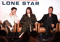 2020 FOX WINTER TCA: (L-R): 9-1-1: LONE STAR cast members Ronen Rubinstein and Liv Tyler, and cast member/Co-Executive Producer Rob Lowe during the 9-1-1: LONE STAR panel at the 2020 FOX WINTER TCA at the Langham Hotel, Tuesday, Jan. 7 in Pasadena, CA. © 2020 Fox Media LLC. CR: Frank Micelotta/FOX/PictureGroup