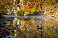 Fall on the Buffalo National River at the Steel Creek Campground.