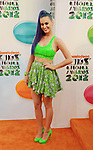 LOS ANGELES, CA - MARCH 31: Katy Perry arrives at the 2012 Nickelodeon Kids' Choice Awards at Galen Center on March 31, 2012 in Los Angeles, California.