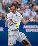 September 3,2019:  Daniil Medvedev (RUS) defeated Stanislas Wawrinka (SUI) 7-6, 6-3, 3-6, 6-1, at the US Open being played at Billie Jean King National Tennis Center in Flushing, Queens, NY.  ©Jo Becktold/CSM