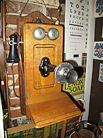 Old telephone in downtown drug store Vicksburg Mississippi.