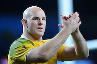 Stephen Moore of Australia thanks the fans at the end of the Semi Final of the Rugby World Cup 2015 between Argentina and Australia - 25/10/2015 - Twickenham Stadium, London<br /> Mandatory Credit: Rob Munro/Stewart Communications