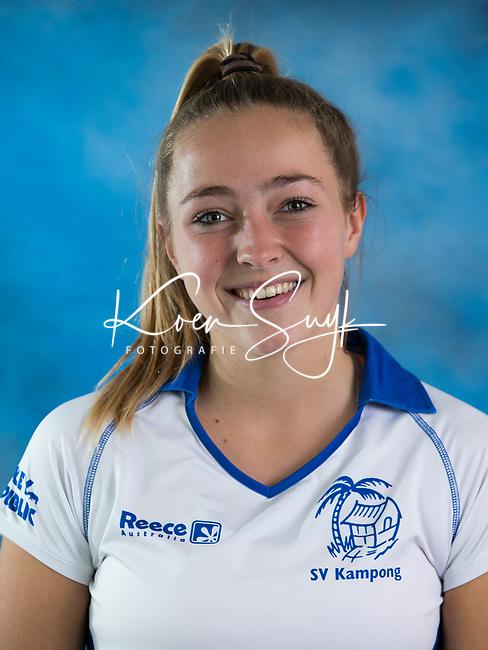 UTRECHT - Renée van Laarhoven , Dames I van Kampong , seizoen 2017-2018 . COPYRIGHT KOEN SUYK