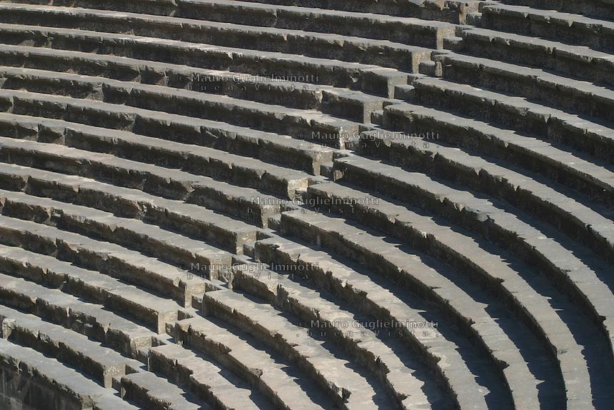 SIRIA Bosra, teatro spalti, gradini Bosra, theater bleachers, stairs
