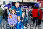 Enjoying the Fun when the Cadbury's Chocolate Truck came to the Square Tralee on Saturday were Aoife Fitzgerald, Tadhg Fitzgerald, Aodhan Fitzgerald, karen Fitzgerald, Dingle
