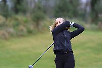 Minonna Falkman Lehes (SWE) on the 1st tee during Round 1 of the Irish Girls U18 Open Stroke Play Championship at Roganstown Golf &amp; Country Club, Dublin, Ireland. 05/04/19 <br /> Picture:  Thos Caffrey / www.golffile.ie