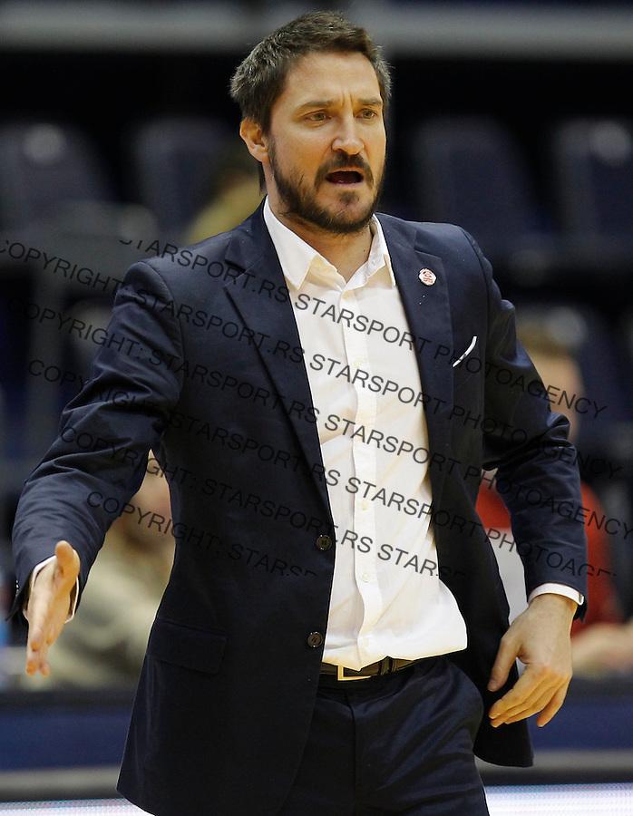 Kosarka ABA League season 2015-2016<br /> Crvena Zvezda v Cedevita<br /> Gianmarco Pozzecco assistant coach<br /> Beograd, 04.01.2015.<br /> foto: Srdjan Stevanovic/Starsportphoto&copy;