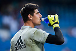 Goalkeeper Thibaut Courtois of Real Madrid drinks water prior to the La Liga 2018-19 match between Real Madrid and CD Leganes at Estadio Santiago Bernabeu on September 01 2018 in Madrid, Spain. Photo by Diego Souto / Power Sport Images