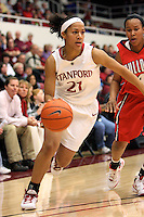 STANFORD, CA - DECEMBER 13:  Rosalyn Gold-Onwude of the Stanford Cardinal during Stanford's 100-62 win over the Fresno State Bulldogs on December 13, 2008 at Maples Pavilion in Stanford, California.