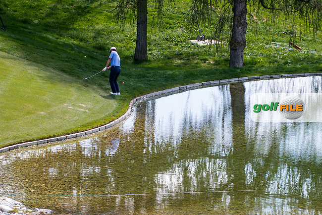 Renato Paratore (ITA) in action on the 12th hole during final round at the Omega European Masters, Golf Club Crans-sur-Sierre, Crans-Montana, Valais, Switzerland. 01/09/19.<br /> Picture Stefano DiMaria / Golffile.ie<br /> <br /> All photo usage must carry mandatory copyright credit (© Golffile | Stefano DiMaria)