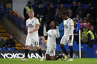 Ivan Toney (No 17) celebrates scoring Peterborough's second goal during Chelsea Under-21 vs Peterborough United, Checkatrade Trophy Football at Stamford Bridge on 9th January 2019