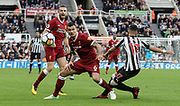 Liverpool's Dejan Lovren vies for possession with Newcastle United's Ayoze Perez<br /> <br /> Photographer Rich Linley/CameraSport<br /> <br /> The Premier League -  Newcastle United v Liverpool - Sunday 1st October 2017 - St James' Park - Newcastle<br /> <br /> World Copyright &copy; 2017 CameraSport. All rights reserved. 43 Linden Ave. Countesthorpe. Leicester. England. LE8 5PG - Tel: +44 (0) 116 277 4147 - admin@camerasport.com - www.camerasport.com