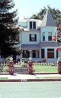 "Visalia CA: 617 N. Encina, c. 1889. ""A potpourri of Eastlake & Queen Anne"""