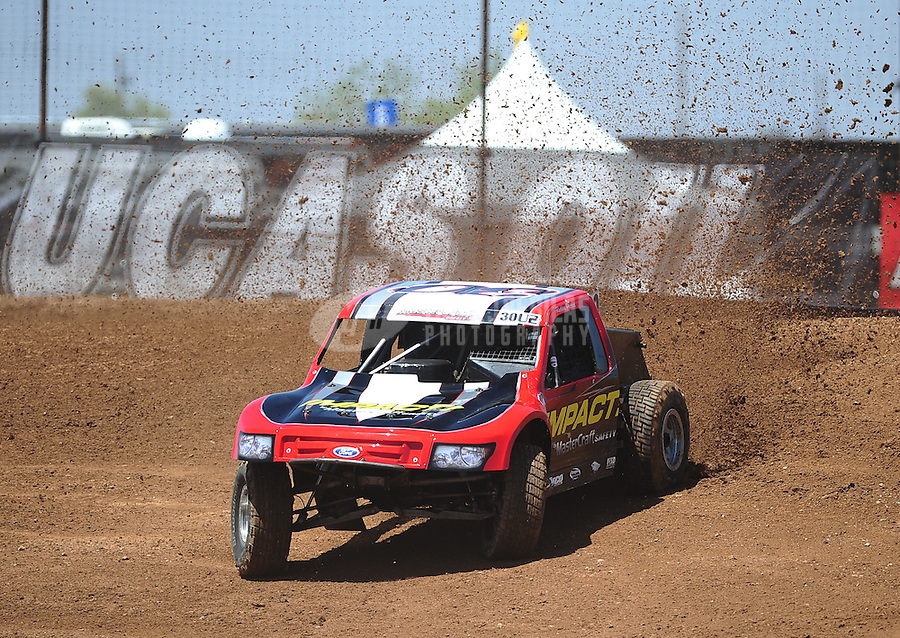 Apr 15, 2011; Surprise, AZ USA; LOORRS driver Robbie Pierce (30) during round 3 and 4 at Speedworld Off Road Park. Mandatory Credit: Mark J. Rebilas-.