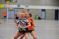 KORFBAL: HEERENVEEN: Blauw-Withal, 23-11-2013, Overgangsklasse A, KV Heerenveen - SDO/VerzuimVitaal, Eindstand 15-26, Jildou Bos (Heerenveen), ©foto Martin de Jong