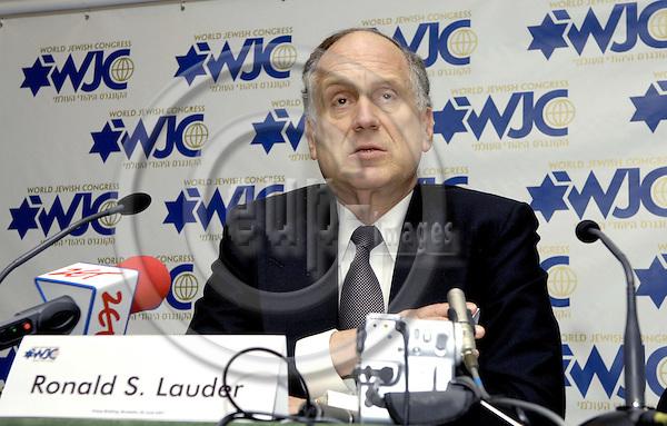 Brussels-Belgium - 26 June 2007---Ronald S. LAUDER, international philanthropist, investor, art collector, public servant and President of the Jewish National Fund, was elected President of the World Jewish Congress (WJC) on 10 June 2007---Photo: Horst Wagner/eup-images