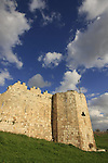 Israel, Sharon region. Ottoman fortress Binar Bashi was built in 1571 on Tel Afek, the location of the Roman city Antipatris built by King Herod