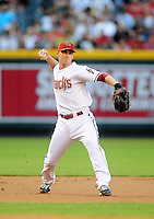 May 27, 2009; Phoenix, AZ, USA; Arizona Diamondbacks shortstop Stephen Drew against the San Diego Padres at Chase Field. Mandatory Credit: Mark J. Rebilas-