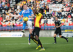 Partick Thistle v St Johnstone&hellip;10.09.16..  Firhill  SPFL<br />Brian Easton is blocked by Abdul Osman<br />Picture by Graeme Hart.<br />Copyright Perthshire Picture Agency<br />Tel: 01738 623350  Mobile: 07990 594431