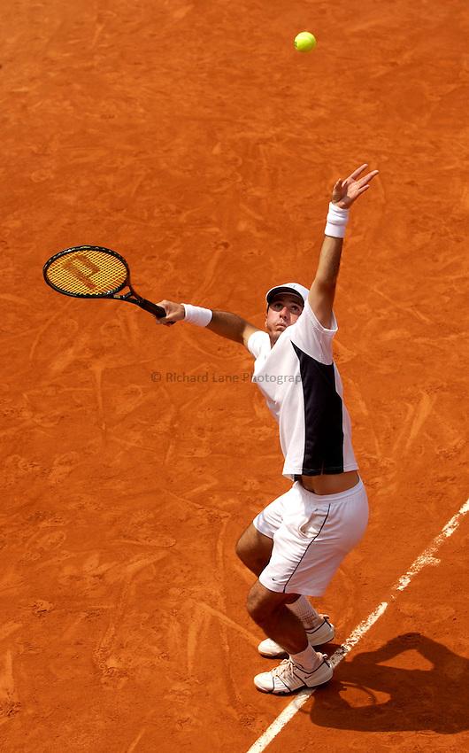 Photo. Jed Wee..French Open Tennis Championships, Roland Garros, Paris, France. 30/05/2003..Vincent Spadea.