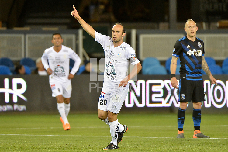 San Jose, CA - Saturday March 24, 2018: Landon Donovan during an international friendly between the San Jose Earthquakes and Club Leon FC at Avaya Stadium.