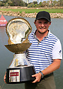 Eddie Pepperell (ENG) poses with the trophy after the final round of the Commercial Bank Qatar Masters played at Doha Golf Club, Qatar. 25/02/2018<br /> Picture: Golffile | Phil Inglis<br /> <br /> <br /> All photo usage must carry mandatory copyright credit (&copy; Golffile | Phil Inglis)