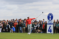 Jon Rahm (ESP) on the 4th tee during Round 4 of the Open de Espana 2018 at Centro Nacional de Golf on Sunday 15th April 2018.<br /> Picture:  Thos Caffrey / www.golffile.ie<br /> <br /> All photo usage must carry mandatory copyright credit (&copy; Golffile | Thos Caffrey)