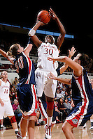 STANFORD, CA - NOVEMBER 29:  Nnemkadi Ogwumike of the Stanford Cardinal during Stanford's 105-74 win over the Gonzaga Bulldogs on November 29, 2009 at Maples Pavilion in Stanford, California.