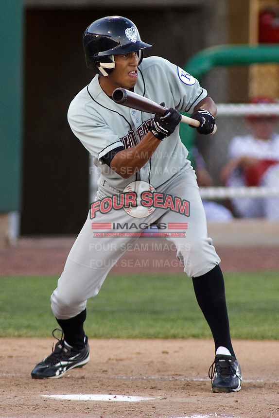 August 3, 2009:  Alex Llanos of the Idaho Falls Chukars, Rookie Class-A affiliate of the Kansas City Royals, during a game at the Orem Owlz Ballpark in Orem, UT. Photo by: Matthew Sauk/Four Seam Images